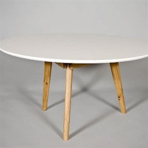 Salontafel Rond Hout Design by Bol Salontafel Radius Rond Wit Hout