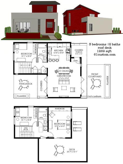 house plans contemporary contemporary small house plan 61custom contemporary