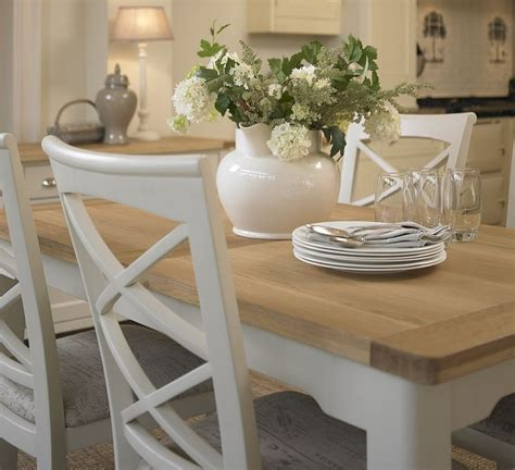 painted dining table cottage oak and painted small extending dining table oak