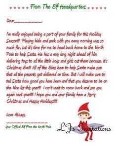 elf on the shelf goodbye letter template elf on the shelf boy inspired good bye letter by