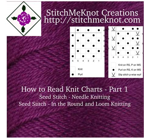 understanding in knitting how to read knitting charts part 1