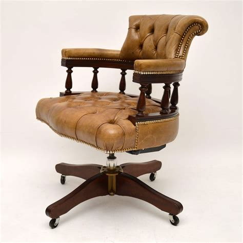Antique Desk Chairs Swivel by Antique Leather Mahogany Swivel Desk Chair Marylebone
