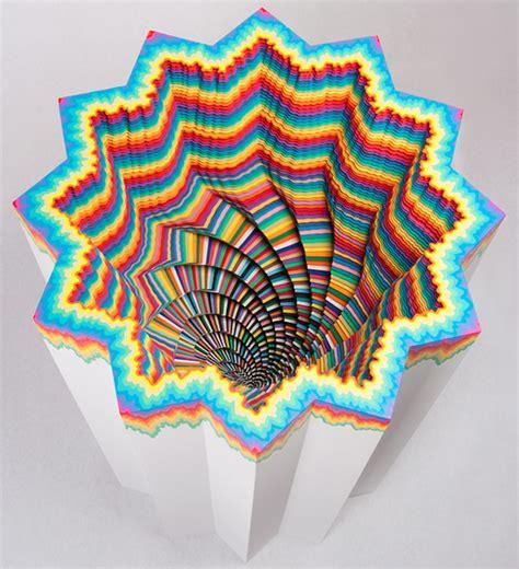 paper craft artists hypnotic 3d paper cut fubiz media