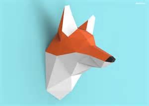 paper craft pdf fox papercraft pdf pack 3d paper sculpture template