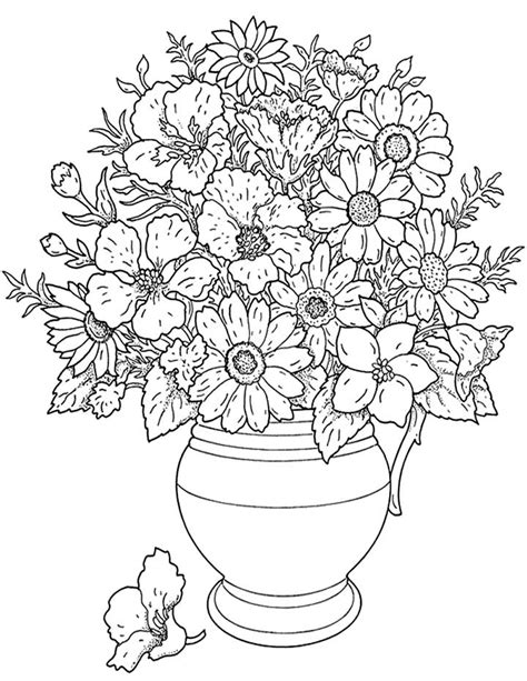 hard flower coloring pages flower coloring page