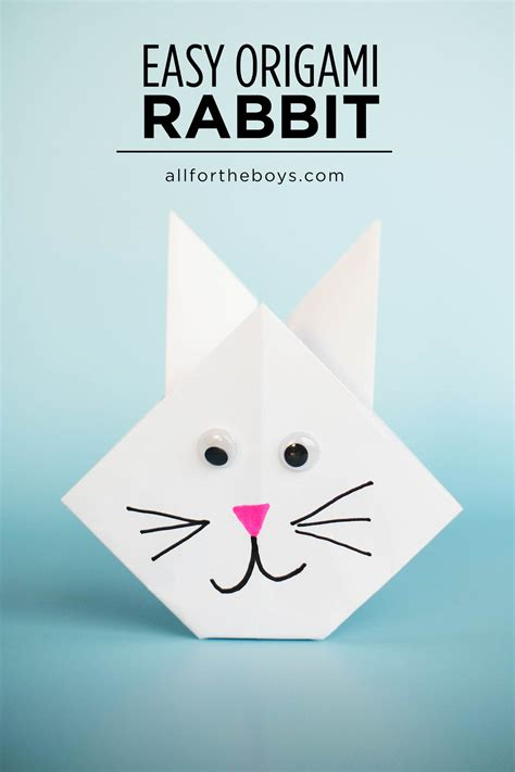 easy rabbit origami easy origami rabbit all for the boys