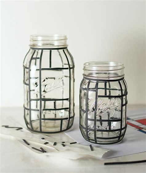 glass jar crafts for mondrian jars jar crafts