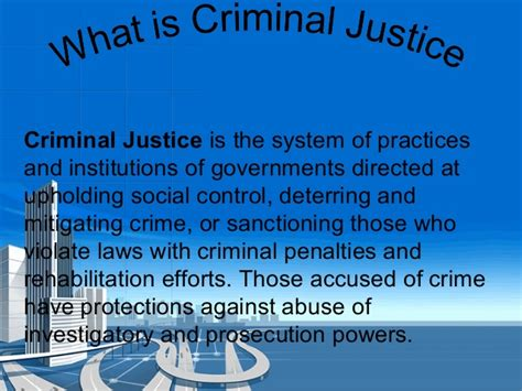 criminal justice in the ch 6 civics understanding our criminal justice system class 8