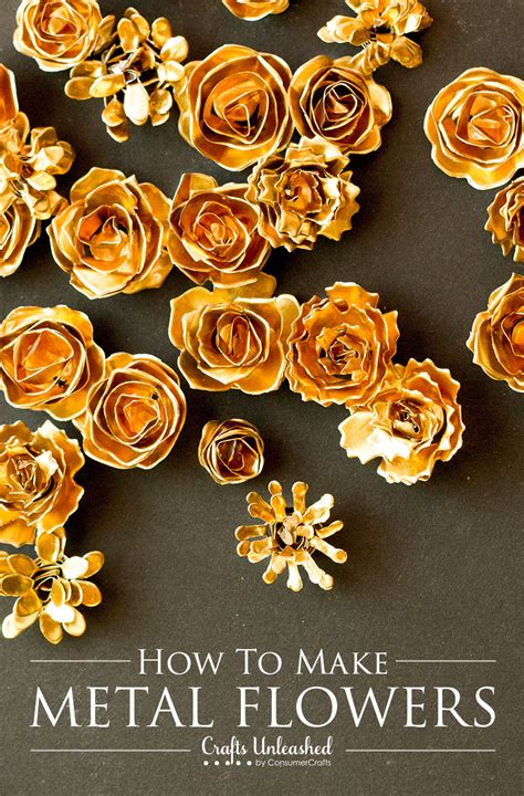 how to make gold jewelry metal flower tutorial make your own diy metal flowers