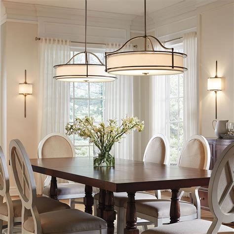 dining room table light dining room lighting gallery from kichler