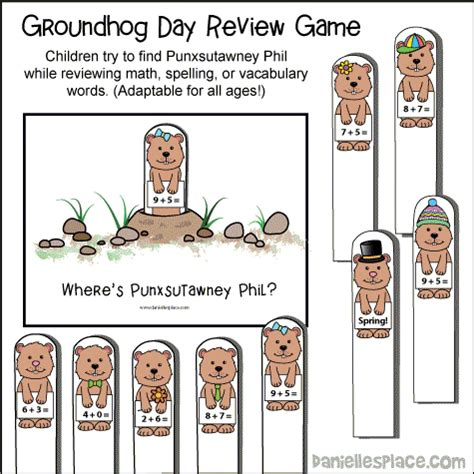 groundhog day review groundhog day crafts