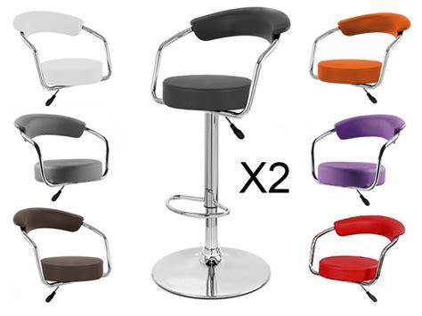tabouret de bar x 2 retro coiffeur design neuf chaise