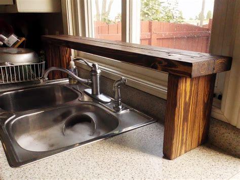 sink shelf kitchen pallet wood the sink window shelf kitchen update 5