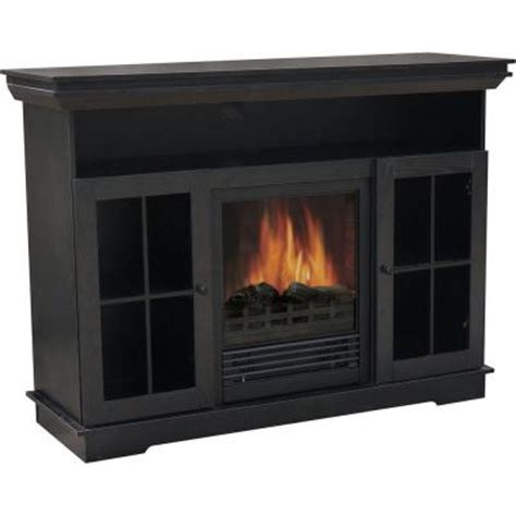 fireplace home depot quality craft 48 in media console electric fireplace in