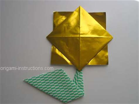 origami sunflower step by step easy origami sunflower folding how to make