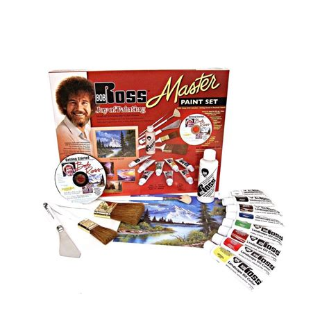 bob ross painting set uk weber bob ross master paint set with 1 hour dvd ebay