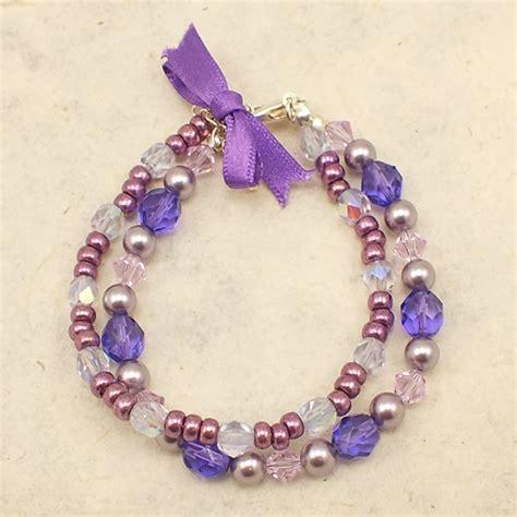 bracelets beginners beginners beaded bracelet kit purple tanzanite the