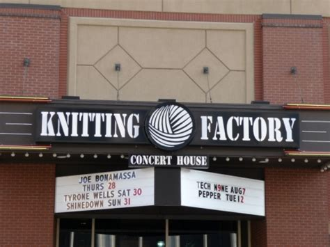 spokane the knitting factory knitting factory concert house