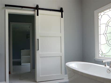 modern three panel barn door