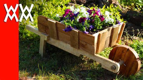 woodworking projects for garden make a rustic wheelbarrow garden planter easy diy weekend