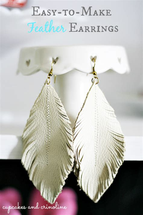 how to make feather jewelry make feather earrings from leather scraps