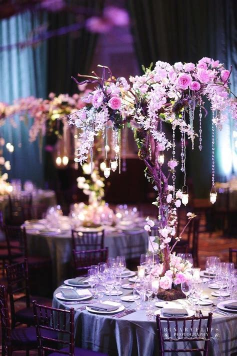 purple tree wedding centerpieceswedwebtalks wedwebtalks