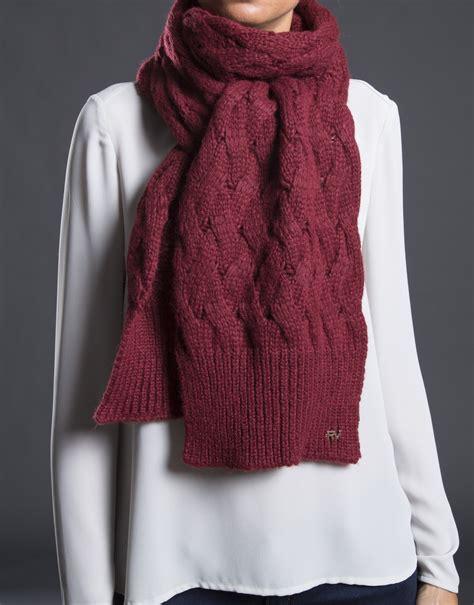 burgundy knit scarf burgundy knit scarf