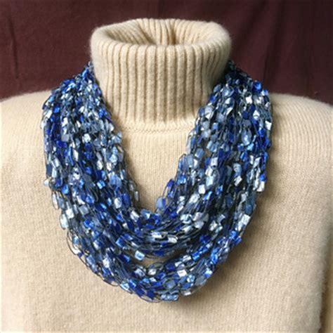 ladder yarn knitting patterns ravelry knit ladder yarn necklace pattern by gemma
