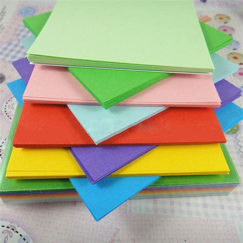 colour paper craft 520pc origami square paper sided coloured