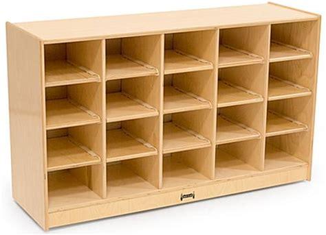 children storage childrens cubbie tray storage single sided