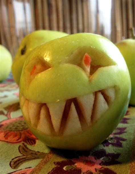 decorative fruits decorative fruit carving apple and expressive faces