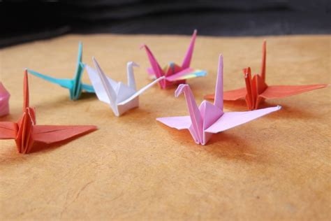 mini origami mini origami crane in assorted colors and patterns