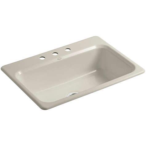 single bowl cast iron kitchen sink kohler bakersfield drop in cast iron 31 in 3 single