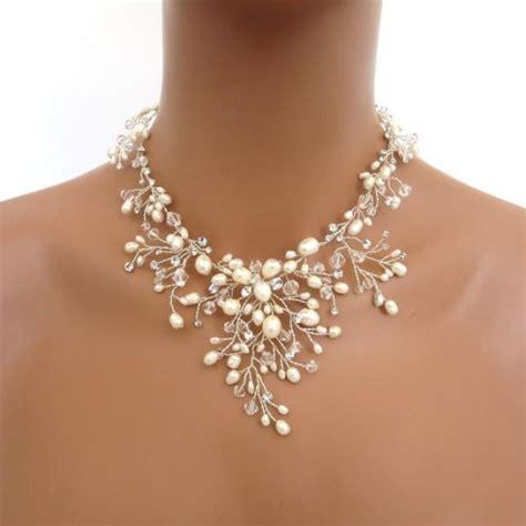 how to make swarovski jewelry bridal freshwater pearl necklace set wedding jewelry set