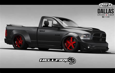 Dodge Hellcat Truck by Hellcat Powered Ram With 775hp Ready To Burn It Up