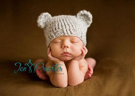 knitting patterns for baby hats with ears newborn baby hat by prolesik craftsy