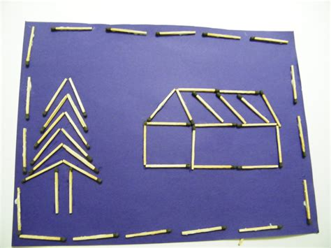 matchstick craft for how to make a matchstick picture crafts