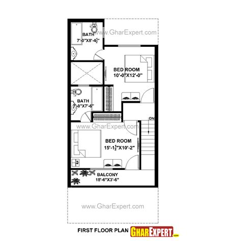 50 sq yard home design house plan for 20 by 45 plot plot size 100