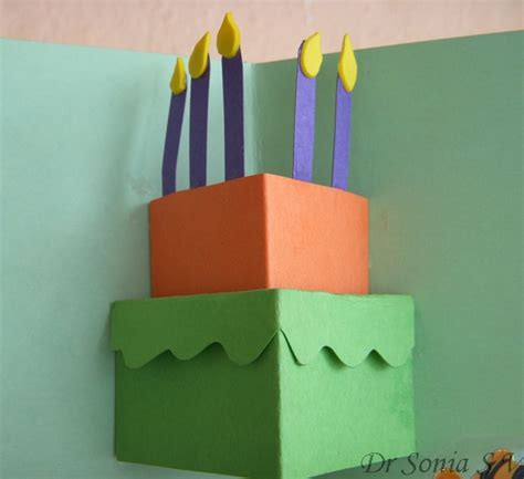how to make a easy pop up birthday card cards crafts projects simple pop up card pop up