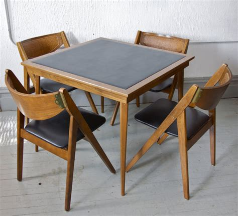 how to make a card table vintage mid century modern stakmore folding chairs and card