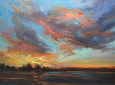 Sky Song A Large Acrylic Painting Sunset Original