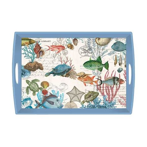 michel design works decoupage tray michel design works sea large decoupage wooden tray