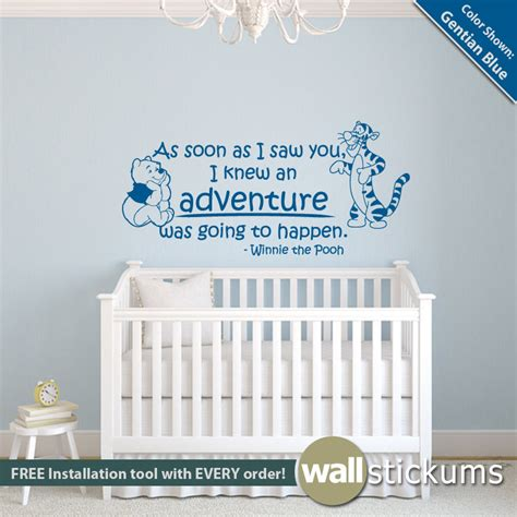 Quotes For Bedroom Wall winnie the pooh wall decal quote adventure quote with pooh