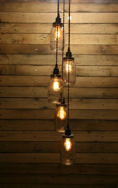 light chandelier diy diy 5 jar pendant light jar chandelier by