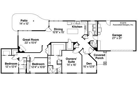 ranch floor plans ranch house plans alton 30 943 associated designs