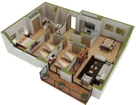 Home Design With Layout 25 three bedroom house apartment floor plans
