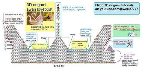 3d origami swan boat 3d origami swan boat diagram
