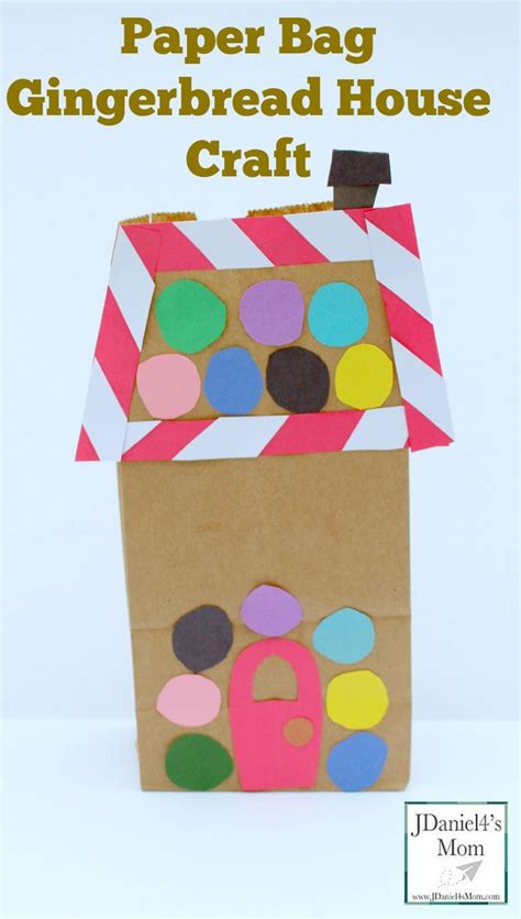paper bag craft ideas for paper bag gingerbread house craft this craft
