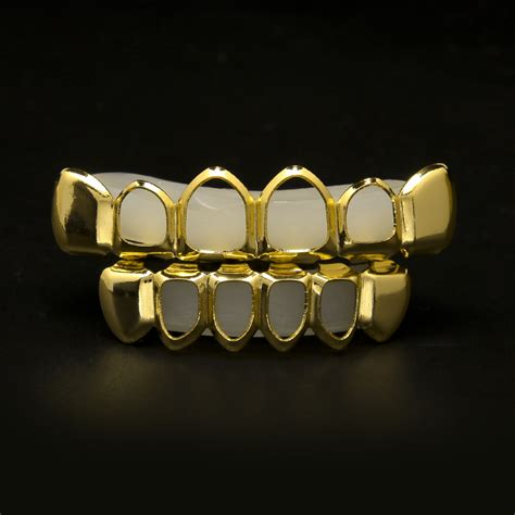 jewelry stores that make grillz gold plated bottom lower teeth four open tooth grillz