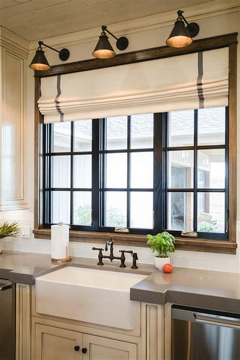 kitchen window trim painted black window trim